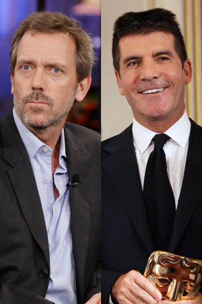 Simon Cowell and Hugh Laurie