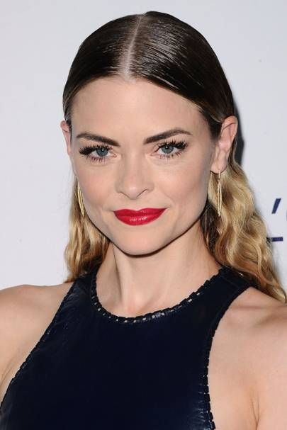 Jaime King's slicked-back style