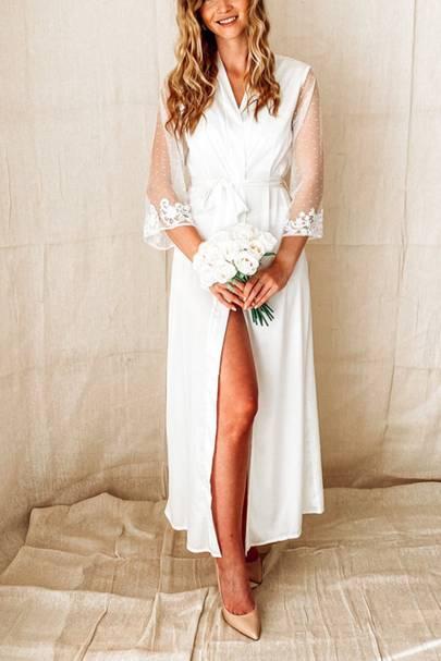 Bridal robes: the full length robe