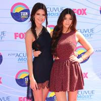 Kendall and Kylie Jenner at the Teen Choice Awards 2012