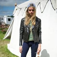 Cara Delevingne at Glastonbury